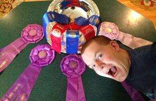 state fair ribbons and bowl