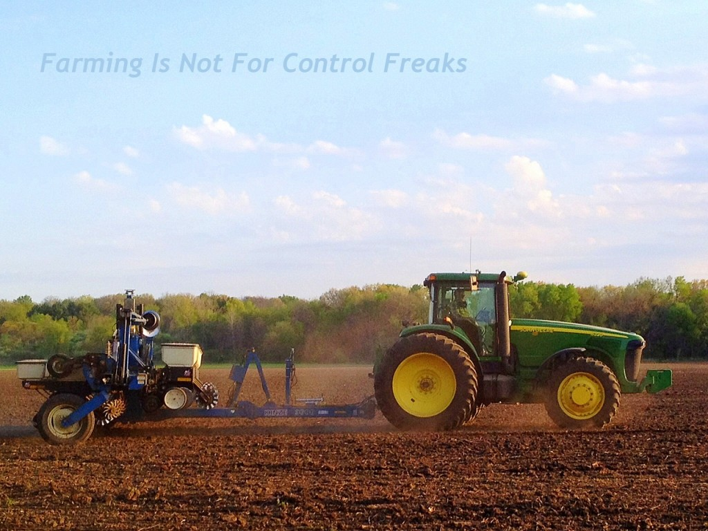 John Deere tractor and corn planter